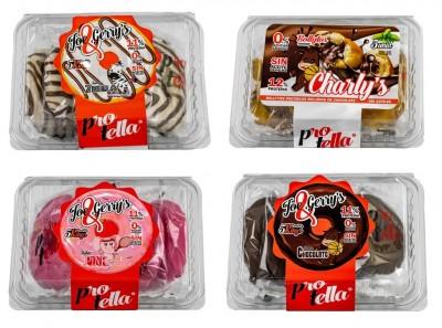 Protella Protein low sugar Donuts 208g (5 Stück) Knappes MHD!