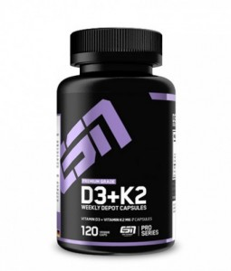 ESN Vitamin D3+K2, 120 Kapseln