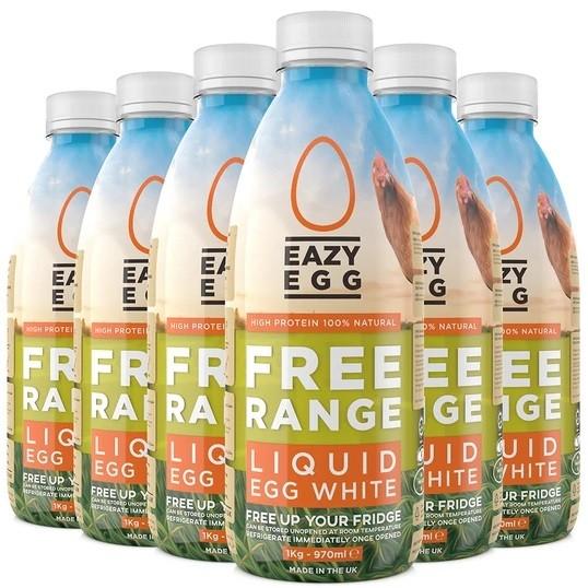 Eazy Egg Free Range liquid Egg Whites 970ml, Eiklar aus Freilandhaltung