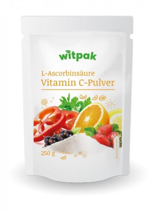 Witpak L-Ascorbinsäure 250g, Vitamin C-Pulver