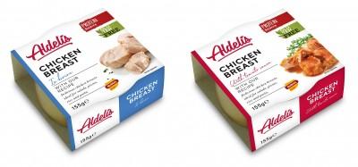 Aldelis Chicken breast 12x155g, fertiges Hähnchen zum sofort verzehren!