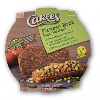 Cakees Fitness-Brot 500g, low carb, low sugar, vegan!