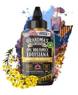 Max Protein The Original Grandma's BBQ Sauces 290ml Louisiana BBQ Sweet & Golden with Mustard