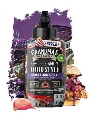 Max Protein The Original Grandma's BBQ Sauces 290ml Ohio BBQ Sweet & Spicy, Garlic & Chili Pepper