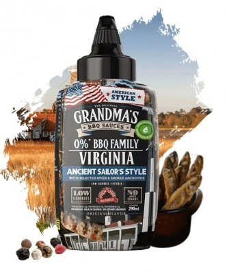 Max Protein The Original Grandma's BBQ Sauces 290ml Virginia Ancient Sailor, Spices & Smoked Anchovies