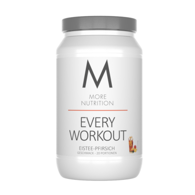 More Nutrition Every Day Workout 700g, Pre-Workout Eistee Pfirsich