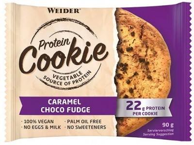 Sonderposten Weider Protein Cookie 12x90g Kiste, Keks, vegan Caramel Choco Fudge MHD 04/21!