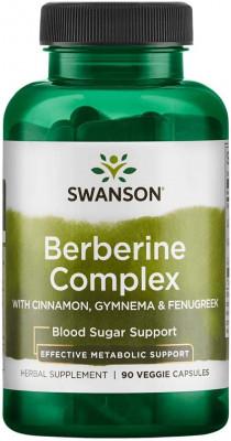 Swanson Berberine Complex 90 veggie Caps, mit Zimt und Gymnema! Blutzuckersupport