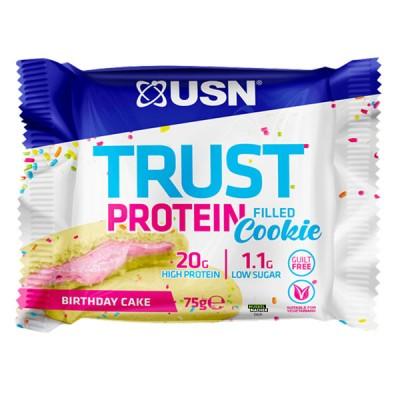USN Trust Protein filled Cookie 75g, Softcookie mit Füllung! Birthday Cake