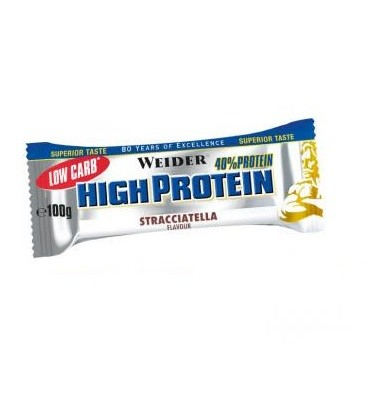 Weider Low Carb High Protein Bar 40% Riegel 20x 100g  Kiste Sonderposten! Stracciatella  MHD: 30.04.2020!